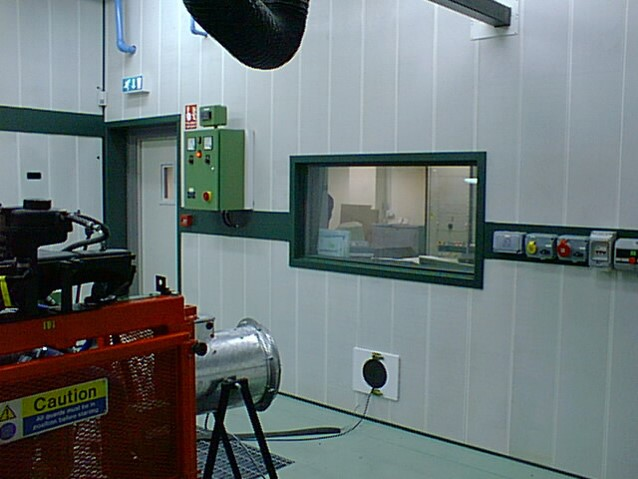 Acoustic Products - test cell window
